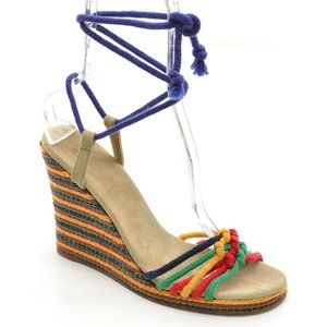 Marc Jacobs Espadrille Ankle Tie Wedge Sandals 40